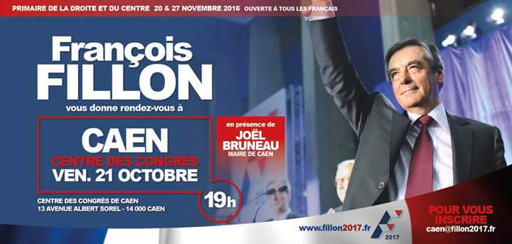 Meeting de François Fillon à Caen