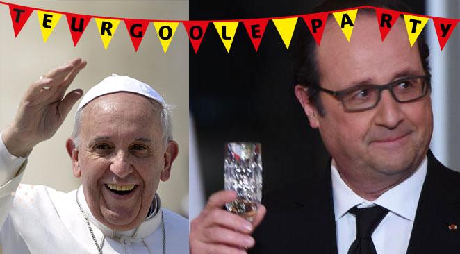 Les médias ayant dit du bien de TeurGoole seront reçus par le Pape et François Hollande