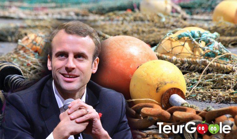 Fécamp : Le programme de E. Macron retrouvé dans le filet des pêcheurs