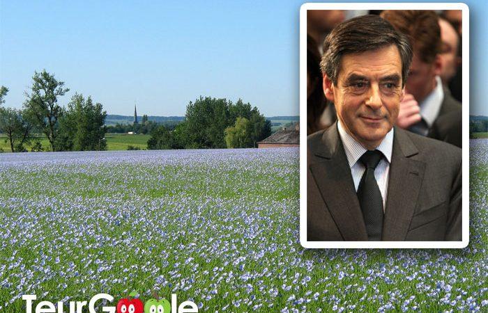 François Fillon achète la totalité de la production de lin de Normandie