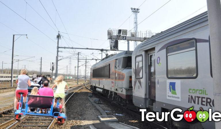 Grèves : des vélos-rails sur les lignes de train de Normandie