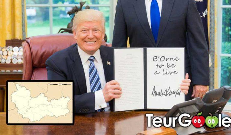 Trump signe l'achat du département de l'Orne