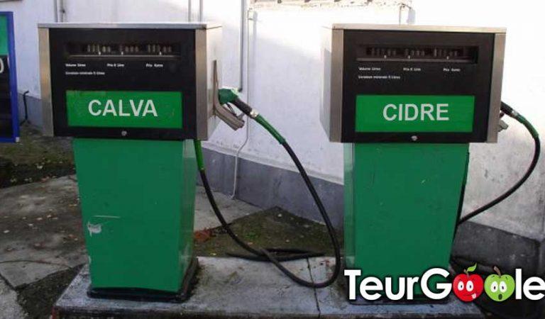 Orbec (14) : l'ancienne pompe à essence transformée en pompe à calva