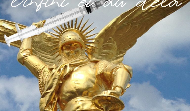 L'archange Saint-Michel se prête lui aussi au Républigram