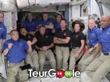 Thomas Pesquet dans la station spatiale internationale